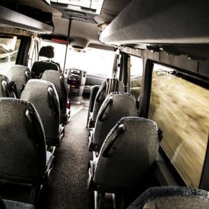 Minibuss innvendig